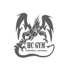 HC GYM tops ar logo, balts