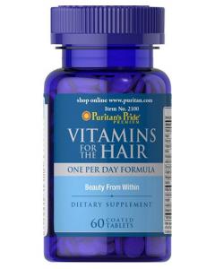 PURITAN'S PRIDE Vitamīni matiem 60 tabletes